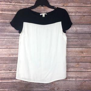 Banana Republic black and white blouse